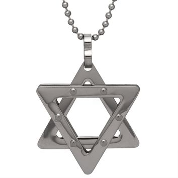 Studded Star of David Pendant