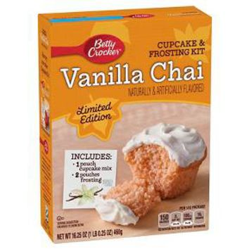 Betty Crocker Vanilla Chai Cupcake & Frosting Kit 16.25oz : Target