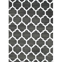 2903 Dark Gray Moroccan Lattice Area Rugs