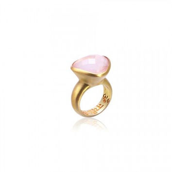 Om Namah Shivaya Ring • Rose Quartz • Gold Vermeil