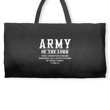 Army Of The Lord Christian T Shirts Bible Verse Weekender Totes