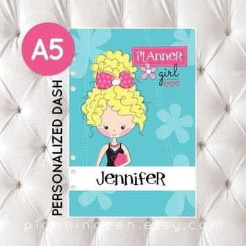 Personalized A5 Planner Dashboard - Planner Girl