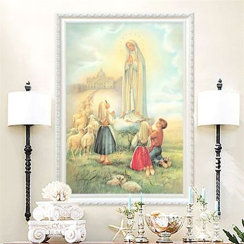 Home Decor Jesus Christ Virgin Many Art Decor Painting Print Giclee Art Print On Canvas Ready to Frame3