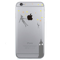 Disney Peter Pan Holding Logo Clear Transparent Case For Apple Iphone 5/5s
