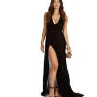 Whole Hearted Black Maxi Dress
