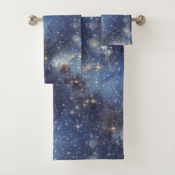 Starry Space Blue Towel Set