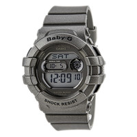 Casio BGD141-8 Women's Baby-G Grey LCD Dial Grey Resin Strap World Time Dive Watch
