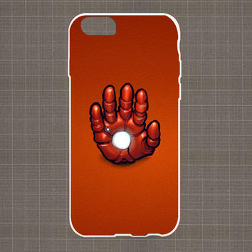Ironman Steel Hand Minimalist Red iPhone 4/4S, 5/5S, 5C Series Hard Plastic Case