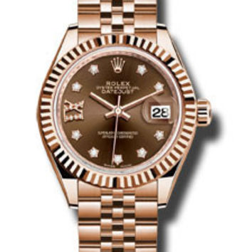 Rolex - Datejust Lady 28 Everose Gold - Fluted Bezel