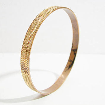 Vintage Herringbone Style Bangle Bracelet Costume Jewelry Fashion Accessories