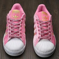 Adidas Shell suede shoes Pink