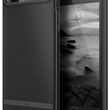 VONEXO9 Caseology Wavelength Series iPhone 7 Plus / 8 Plus Cover Case with Pattern Slim Protective for Apple iPhone 7 Plus (2016) / iPhone 8 Plus (2017) - Matte Black