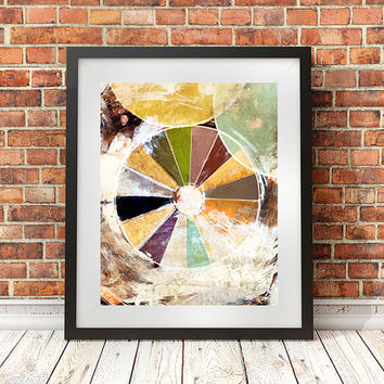Artist gift, studio decor, 16x20, motivational art, carnival print, mixed media art, giclee poster, pie chart, collage art, painting, studio