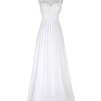 White Prom Dress Robe De Bal Longue 2016 Sweetheart Long Chiffon Ombre Dress Ballkleider Ruched Wedding Party Prom Gowns