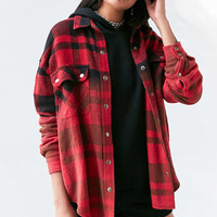 Ecote Mattie Flannel Shirt Jacket - Urban Outfitters