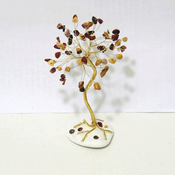 Wire tree,Mookaite Jasper tree of life,Ancient March birthstone,feng shui tree,unique teen gift,for him,beaded tree,bonsai tree,crystal tree