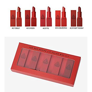 3CE Red Recipe Lip Color Mini Kit (LIMITED QUANTITY)