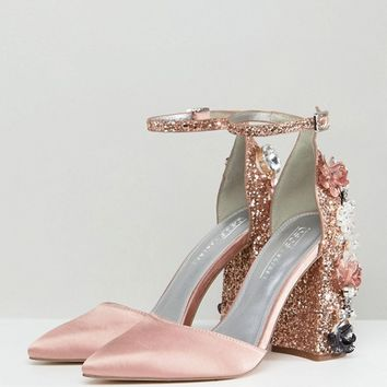 ASOS DESIGN Passionate Embellished High Heels at asos.com