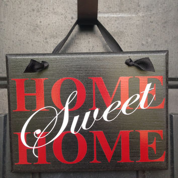 Home Sweet Home Door Sign - House Warming Gift - Home Blessing Wall Sign