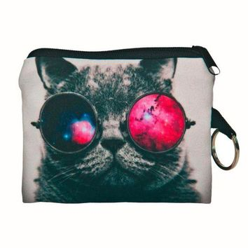 ONETOW New Cute Cat Face Zipper Case Coin Purse female Girl Printing Coins Change Child Purse Makeup Bag Clutch Wallet Phone Key Bags