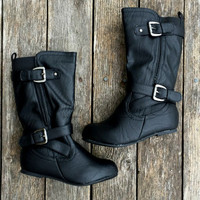 THE LARUE KIDS BOOT IN BLACK