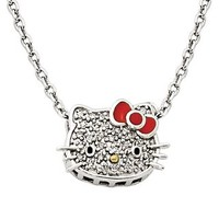 1/10 ct. tw. Diamond Hello Kitty Necklace in Sterling Silver - Shop All Pendants & Necklaces - Pendants & Necklaces - Jewelry - Helzberg Diamonds