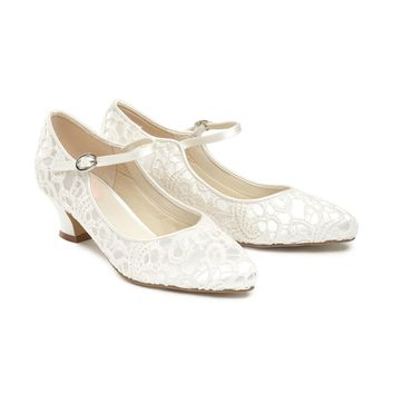 Paradox London Pink Vintage `mermaid` Lace Mary-jane Shoes - House of Fraser