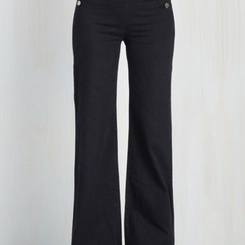 Nautical Wide Leg Sailorette the Seas Jeans in Dark Wash