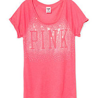 Bling Cuffed Tee - PINK - Victoria's Secret