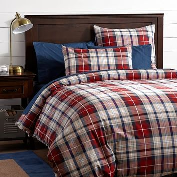 Fieldhouse Duvet Cover + Sham, Red