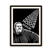 Game of Thrones Hodor Typography Poster Print
