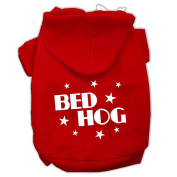 Bed Hog Screen Printed Pet Hoodies Red Size XXXL (20)