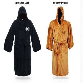 Hot Sale Star Wars Darth Vader Coral Fleece Terry Jedi Adult Bathrobe Robes Halloween Cosplay for Men Sleepwear