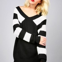 Stripe Merger Sweater | Trendy Knits at Pink Ice