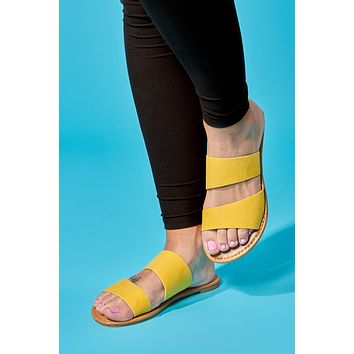 Clear Your Thoughts Sandals (Yellow)