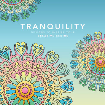 Adult Coloring Book, Printable Coloring Pages, Coloring Pages, Geometric, Patterns, Coloring Book for Adults, Instant Download TRANQUILITY