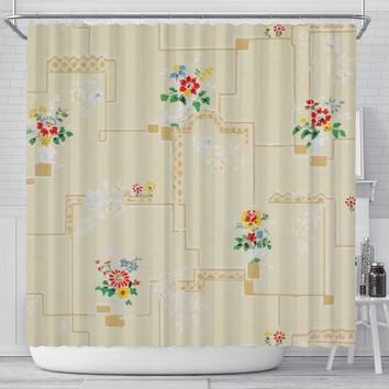 Mod Retro Shower Curtains Bathroom Decor Custom Made