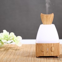 Perfume Bottle Design 100ML Mini Aroma Diffuser Ultrasonic Humidifier 7 Colors Light Aromatherapy Essential Oil Diffuser with Negative Ions for Air Clean Applicable for Office Bedroom Yoga SPA Exercise Massage (Light Brown/Dark Brown)