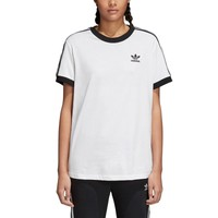 adidas Originals 3 Stripes T-Shirt - Women's - Short Sleeve - Clothing - adidas Originals - Women's - Cardio - White/Black | Lady Foot Locker