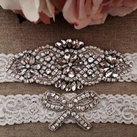 Wedding Garter Bridal Garter Ivory Couture Pearl and Crystal Rhinestone Garter and Toss Garter Set on Ivory Lace 2pcs /lot