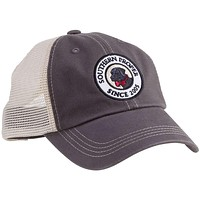 Original Logo Patch Trucker Hat in Graphite by Southern Proper