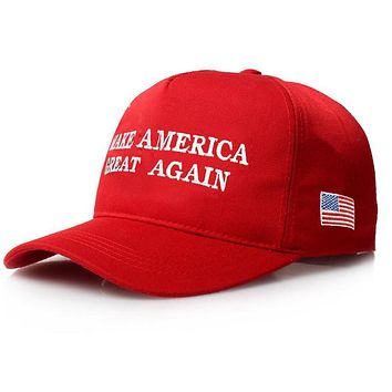 Make America Great Again Letter Print Donald Trump Hat 2016 Republican Snapback Baseball Cap Polo Hat For President USA Hat