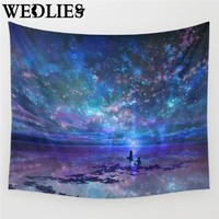 Colorful Starry Sky Universe Tapestry Indian Mandala Throw Blanket Bedspread Yoga Mat Home Room Wall Decoration Home Textiles