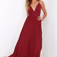 Depths of My Love Wine Red Maxi Dress