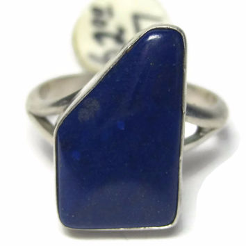 Vintage Native American Lapis Ring Size 7 Old New Stock