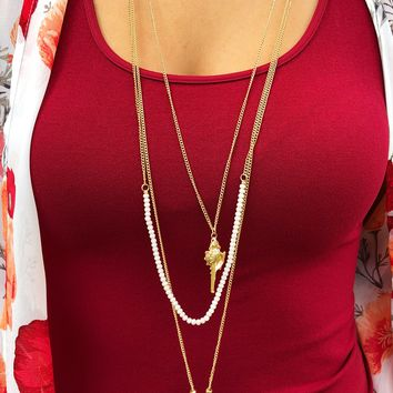 Washed Ashore Necklace: Gold