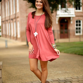 Piko Dress - Marsala