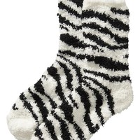 Old Navy Womens Cozy Socks Size One Size - Zebra