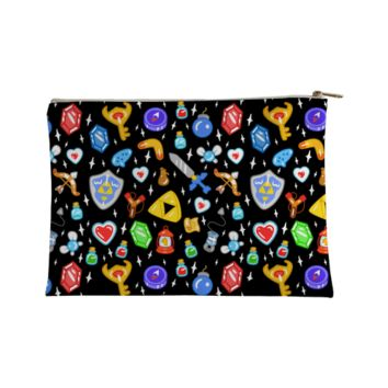 ZELDA ITEMS PATTERN ACCESSORY BAG