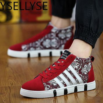 High Top Canvas Casual Men Shoes